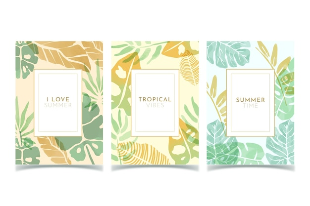 Abstract tropical cards