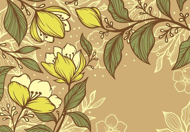 抽象的な熱帯の花の芸術の背景