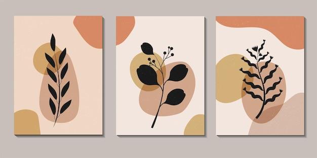 Абстрактные тропические цветы и оставить плакаты