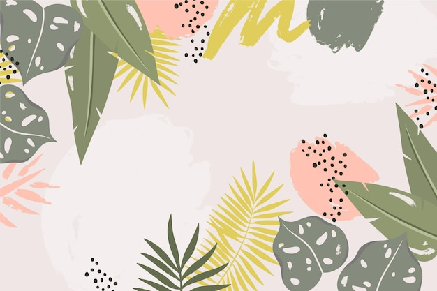 Abstract tropical leaves background