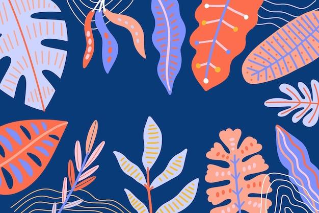 Абстрактный тропический фон листья