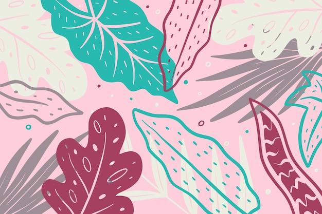 추상 열 대 나뭇잎 배경