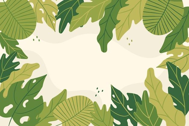 抽象的な熱帯の葉の背景