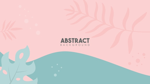 Abstract tropical leaves elements flower poster background