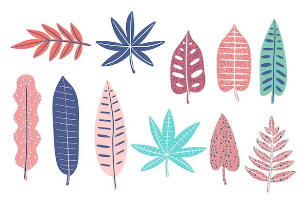 Abstract tropical leaves oack