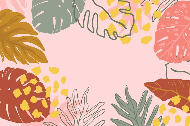 Abstract tropical leaves style