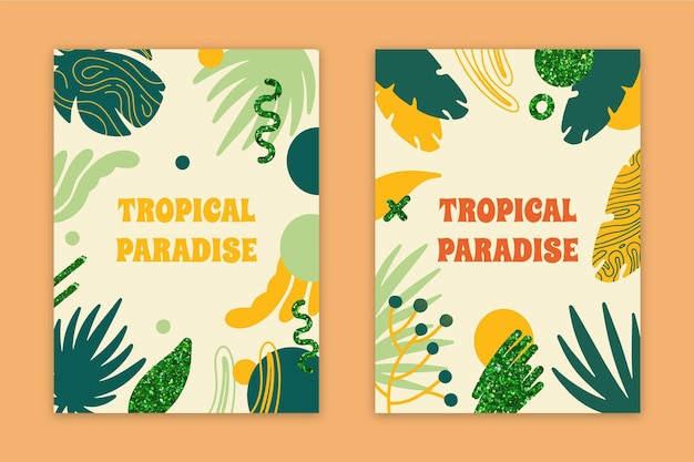 Коллекция карт абстрактный тропический рай