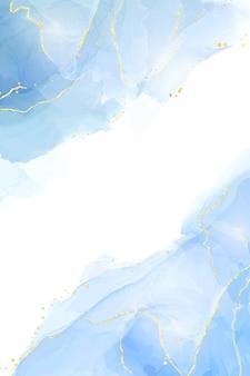 抽象的なターコイズとティールブルーの液体大理石の水彩画の背景