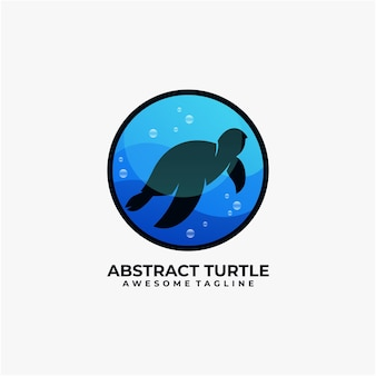 Abstract turtle logo design vector