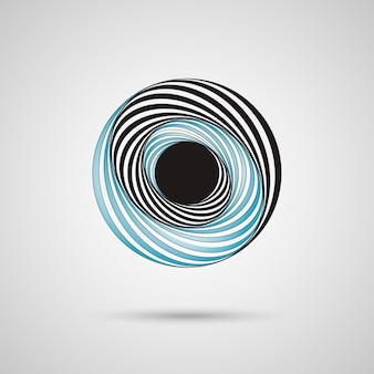 Abstract twirl circle