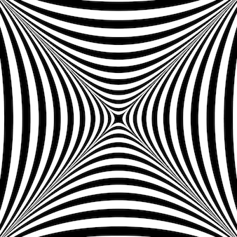 Abstract twisted black and white background