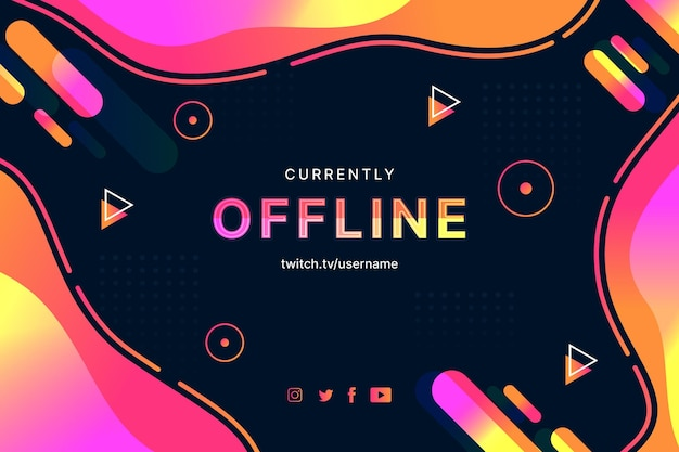 Abstract twitch banner in memphis style