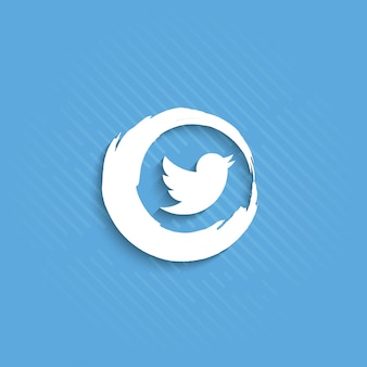Abstract twitter icon