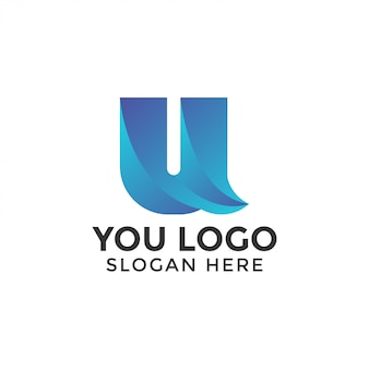 Abstract u logo design template vector isolated