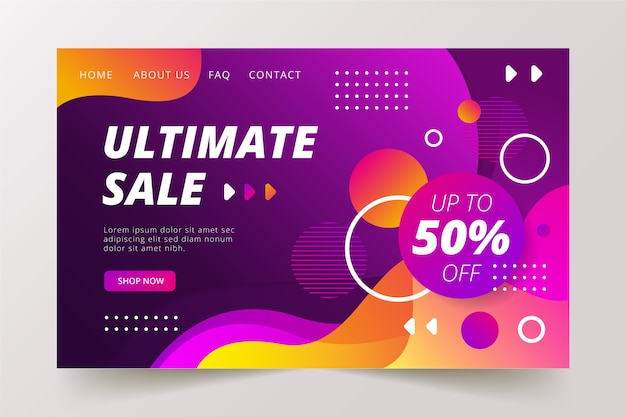 Abstract ultimate sale landing page