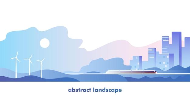 Abstract urban landscape.  illustration.