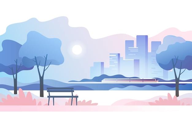 Абстрактный городской пейзаж.