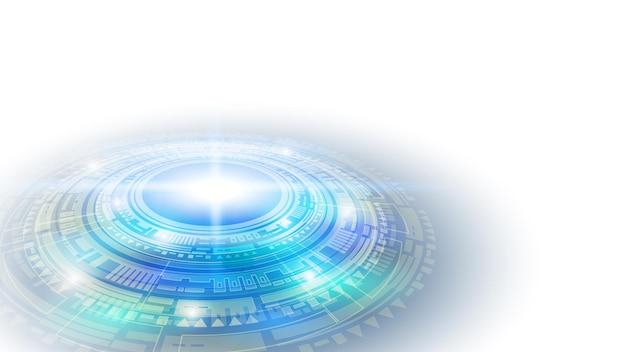 輝く未来的な要素からの抽象的なユーザーhudインターフェース。 eps10。