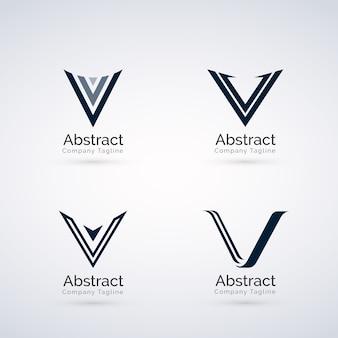 抽象的なvロゴ