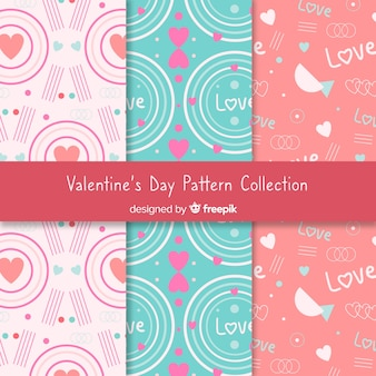 Abstract valentine pattern collection