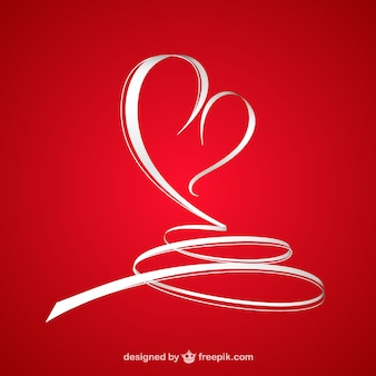 Abstract valentine's heart Free Vector