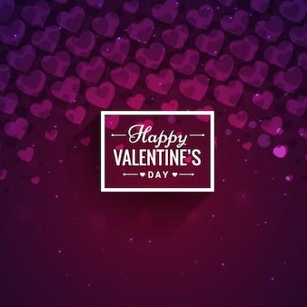 Abstract san valentino in toni viola