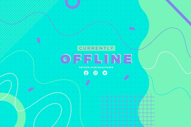 Abstract various lines twitch offline banner template