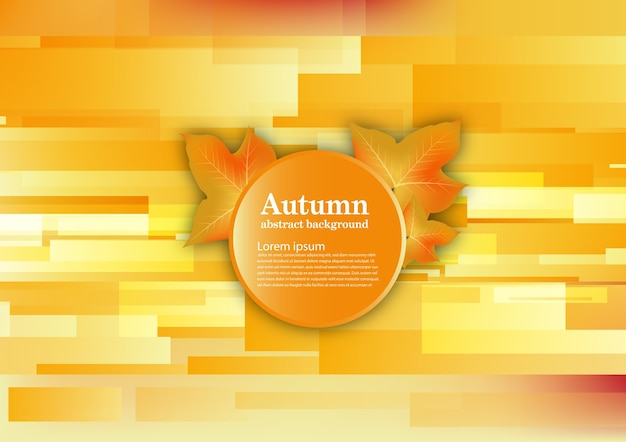 Abstract vector background for autumn concept