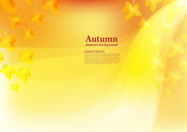 Abstract vector background for autumn