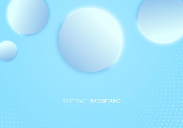 Абстрактные векторные фон синие сферы шаблон обложка, баннер, плакат