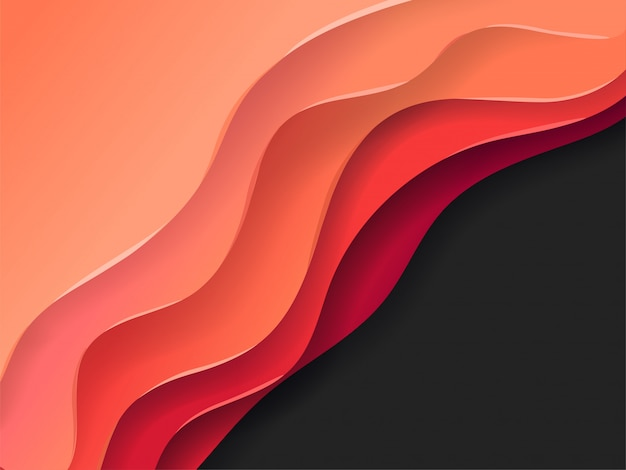 Abstract vector background of color layers