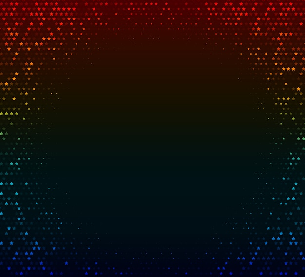 Abstract vector background. glowing mosaic of stars on the dark colorful background. halftone effect
