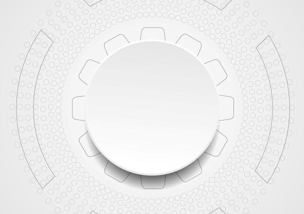 Абстрактный фон вектор. иллюстрация технического рисунка. бумажный дизайн