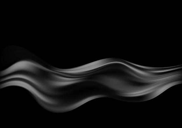 Абстрактные векторные фон роскошная черная ткань или жидкая волна