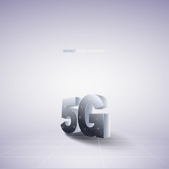 Abstract vector background with 5g communications