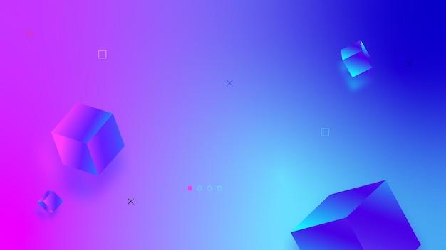 Абстрактные векторные фон с размытыми элементами d современный дизайн градиента