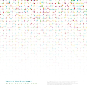 Abstract vector background with color circles