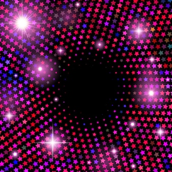 Abstract vector background with shiny stars
