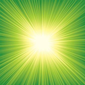 Abstract vector background with sunburst