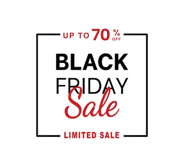 Abstract vector black friday sale layout background