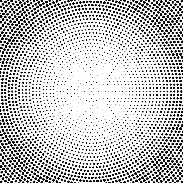 Abstract vector black and white dotted halftone background