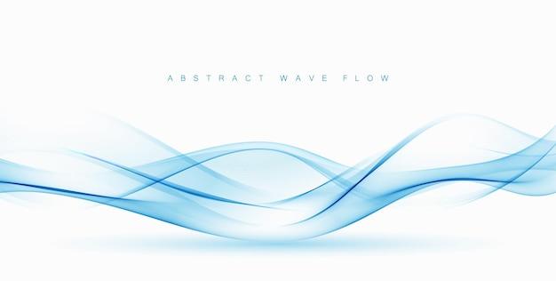 Абстрактный вектор синий волновой вектор фон волновой поток