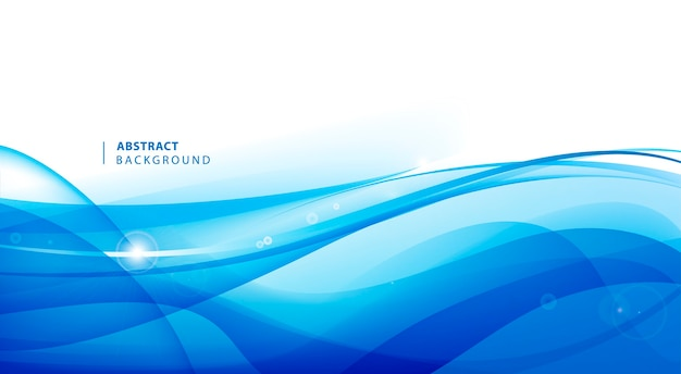 Abstract vector blue wavy background. graphic  template for brochure, website, mobile app, leaflet.