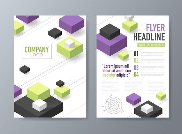 Abstract vector brochure flyer design template
