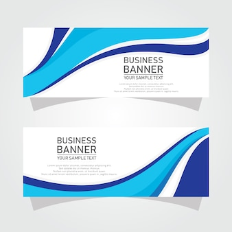 Abstract vector business banner designs