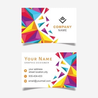 Abstract vector business card