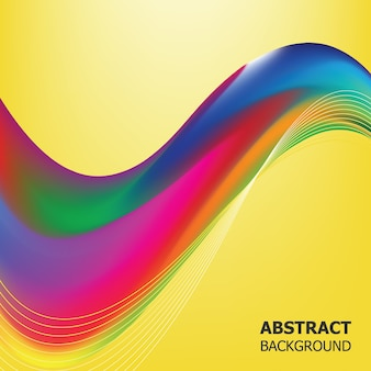 Abstract vector color waves of background