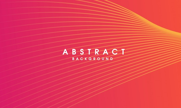 Abstract vector colorful line background