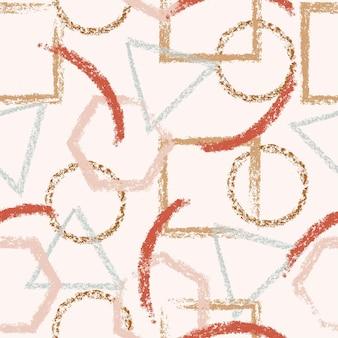 ブラシストロークと抽象的なベクトル創造的なシームレスパターン印刷用のカラフルな背景