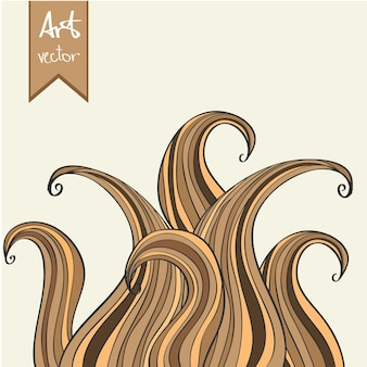 Abstract vector element. hand drawn illustration doodle style